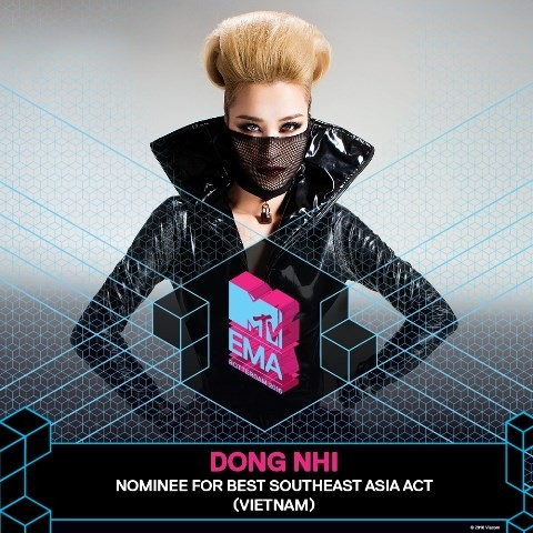 Pop star Dong Nhi wins Best Southeast Asian Act - EMA 2016 - ảnh 1