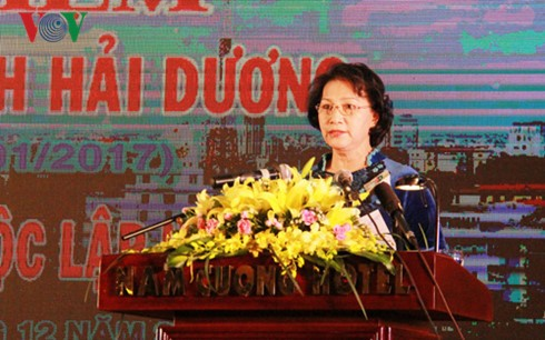 National Assembly Chairwoman attends 20th anniversary of Hai Duong province - ảnh 1
