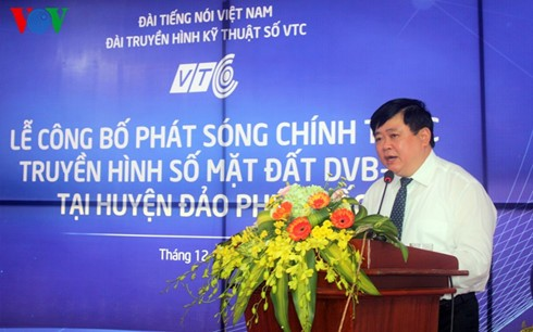 Voice of Vietnam launches digital TV service in Phu Quoc - ảnh 1