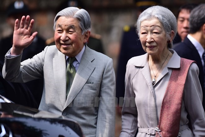 Japanese Emperor, Empress host tea party following Vietnam visit - ảnh 1