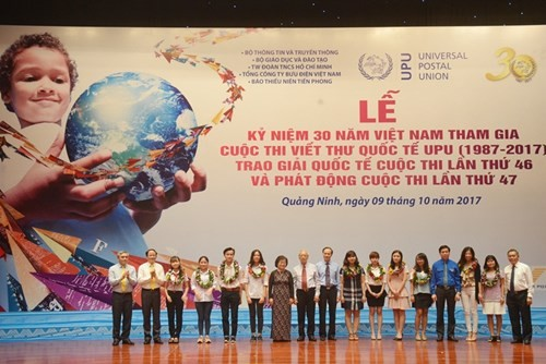 Vietnam celebrates 30 years participating in UPU contest  - ảnh 1