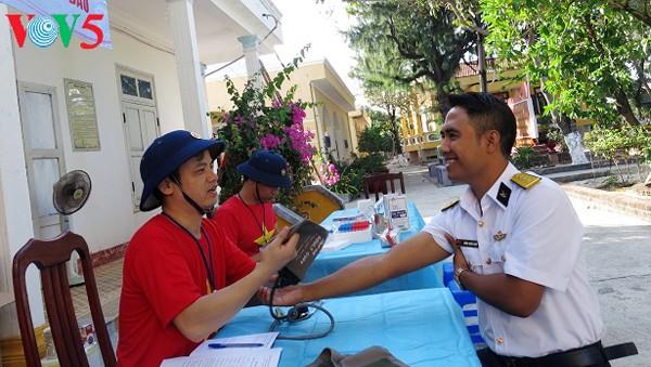 Bancos de sangre en distrito insular de Truong Sa - ảnh 1