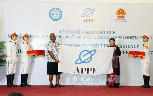 Vietnam asume presidencia del Foro Parlamentario Asia Pacífico - ảnh 1