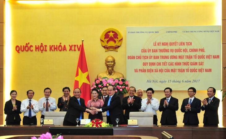 Vietnam consolida papel del Frente de la Patria en la supervisión y crítica popular - ảnh 1