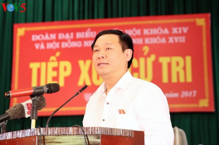 Dirigentes de Vietnam realizan contacto electoral después del XIII período de reunión parlamentaria - ảnh 1