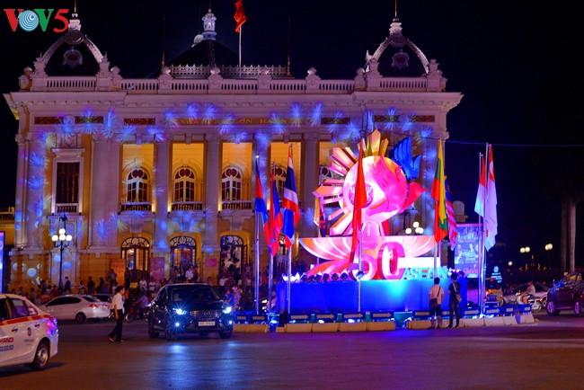 Actividades conmemorativas de 50 años de la Asean en localidades vietnamitas - ảnh 1