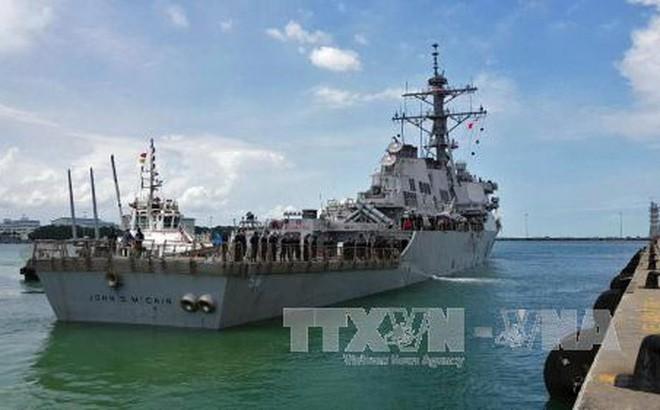 Estados Unidos identifica los restos de los tripulantes desaparecidos del destructor USS John McCain - ảnh 1