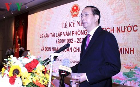 Presidente de Vietnam orienta el mejoramiento de las actividades de su despacho - ảnh 1