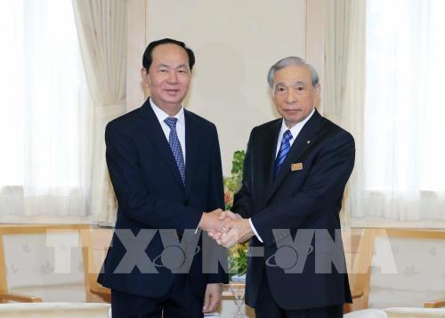 Presidente de Vietnam visita la prefectura nipona de Gunma - ảnh 1