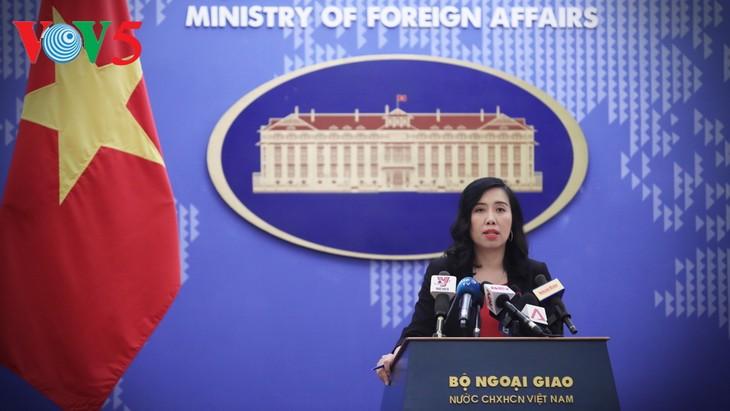 Rueda de prensa ordinaria de la Cancillería vietnamita reafirma el apoyo nacional a la paz del mundo - ảnh 1