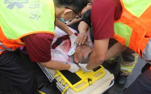 Xe chở khách du lịch Việt Nam gặp nạn tại Đài Loan - ảnh 1