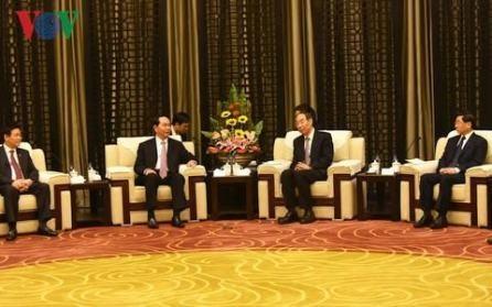 Presidente vietnamita continúa su agenda en China  - ảnh 1