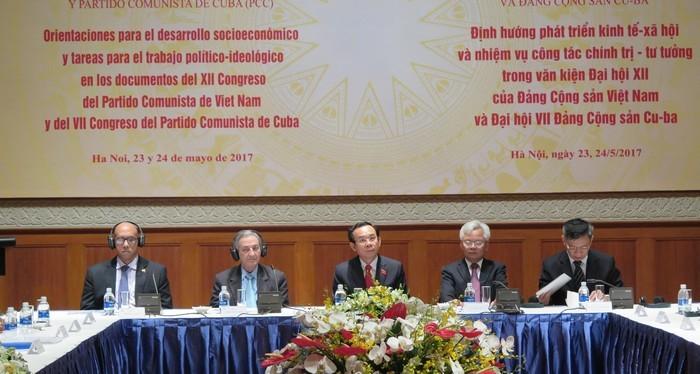 Celebran seminario teórico entre los Partidos Comunistas de Vietnam y de Cuba - ảnh 1