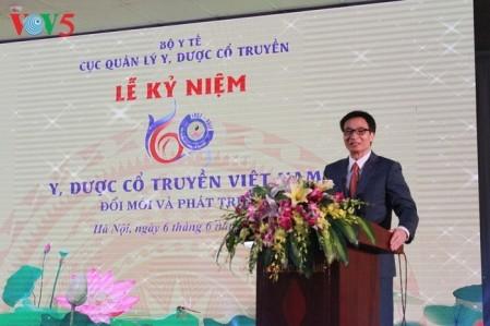 Celebran aniversario del sector de medicina tradicional de Vietnam - ảnh 1