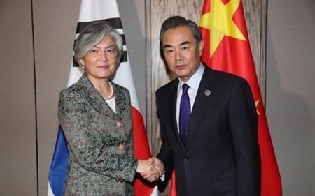 China y Corea del Sur por mejorar sus relaciones  - ảnh 1