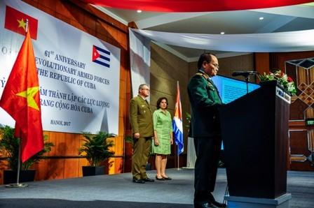 Celebran en Vietnam el 61 aniversario de las Fuerzas Armadas cubanas - ảnh 3