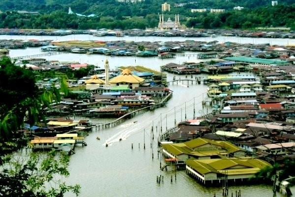 Kampung  terapung Kampong Ayer- Brunei Darusalam. - ảnh 1