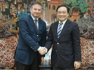 Deputi PM Vietnam, Hoang Trung Hai menerima Deputi Menlu Italia, Bruno Archi  - ảnh 1