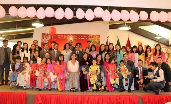 Komunitas orang Vietnam di banyak negara merayakan Hari Raya Tet Tradisional 2016 - ảnh 1