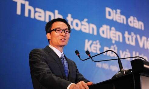 Deputi PM Vietnam, Vu Duc Dam menghadiri Forum Pembayaran Elektronik Vietnam-2016 - ảnh 1