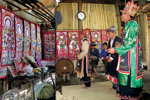 Worship paintings of Vietnam's northern ethnic groups - ảnh 1