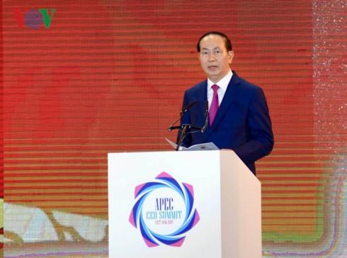 President: APEC CEO Summit 2017 opens cooperation, development opportunities - ảnh 1