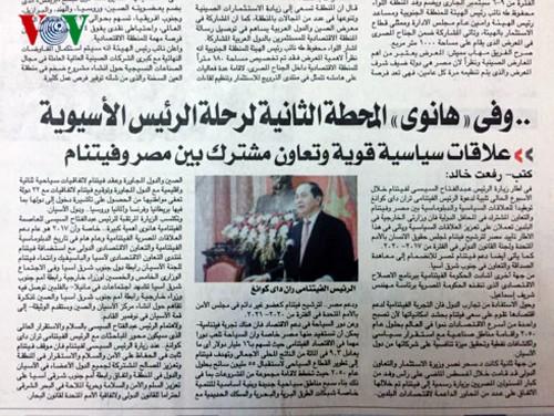 Medios de comunicación egipcios ensalzan las experiencias de Vietnam en la renovación nacional - ảnh 1