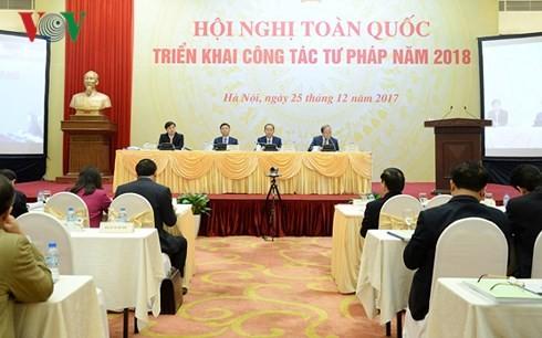 Vietnam determinado a elevar la eficiencia de los trabajos jurídicos para 2018 - ảnh 1