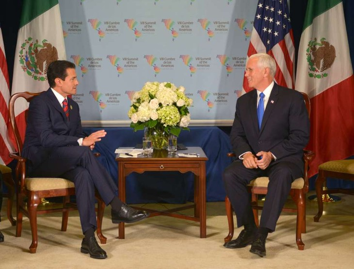Vicepresidente de Estados Unidos debate con líderes de México y Canadá sobre el TLCAN - ảnh 1