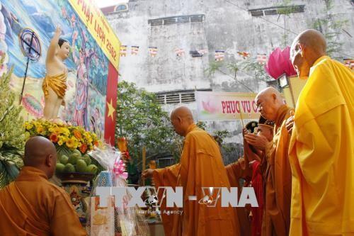 Localidades vietnamitas conmemoran el 2562 aniversario del nacimiento y la iluminación de Buda - ảnh 1
