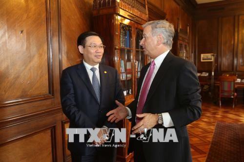 Vicepremier vietnamita cumple la agenda de trabajo en Chile - ảnh 2