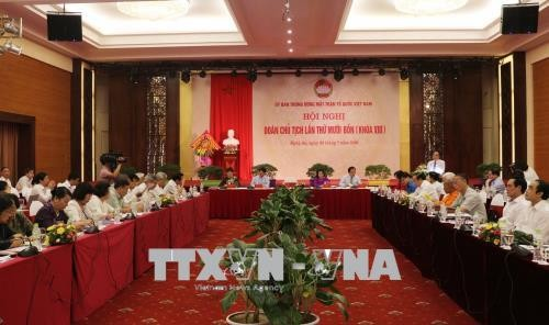 Llevan a cabo Conferencia del Presídium del Comité Central del Frente de la Patria de Vietnam - ảnh 1