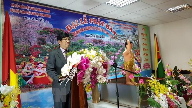 Vietnamitas y mozambiqueños se suman a la ceremonia conmemorativa del Día de Vesak - ảnh 1