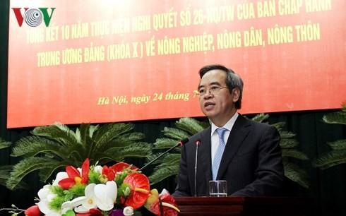 Vietnam evalúa los 10 años de la política a favor de los agricultores y la nueva ruralidad - ảnh 1