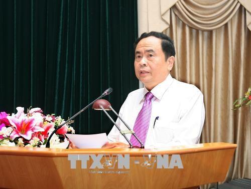 Frente de la Patria de Vietnam enaltece el seguimiento del ejemplo del presidente Ton Duc Thang - ảnh 1
