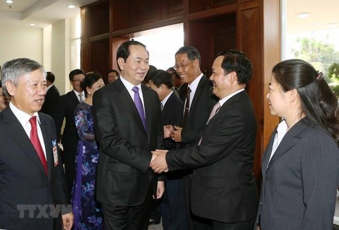 Budistas vietnamitas en Laos asisten a réquiem por difunto presidente de Vietnam - ảnh 1