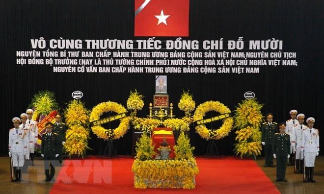 Ceremonia en homenaje póstumo al exsecretario general del Partido Comunista de Vietnam, Do Muoi   - ảnh 1