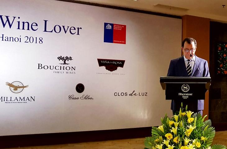 Chile promueve marca vitivinícola en una degustación en Hanói - ảnh 1