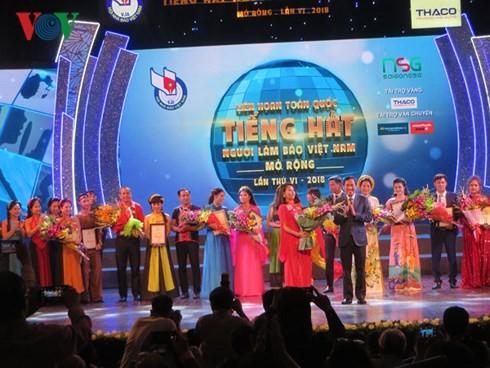 Concluye el VI Festival abierto de Canto de Periodistas de Vietnam - ảnh 1