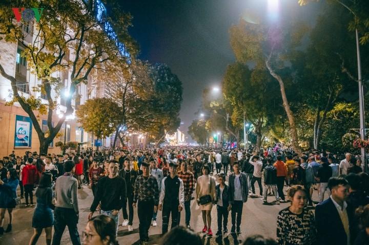 La población de Vietnam celebra el Tet 2019 en ciudades importantes - ảnh 1
