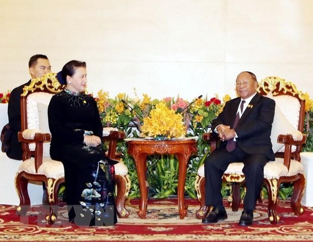Inicia presidente del Parlamento camboyano visita oficial a Vietnam - ảnh 1