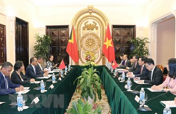 Vietnam y Timor Oriental fomentan cooperación multisectorial  - ảnh 1