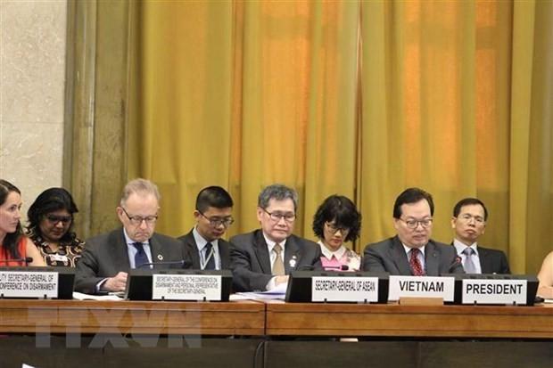 Vietnam preside un pleno de la Conferencia de Desarme de la ONU - ảnh 1