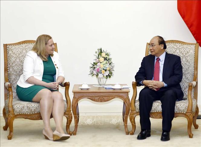 Premier vietnamita recibe a embajadora de Irlanda en Hanói - ảnh 1