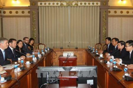 Ciudad Ho Chi Minh refuerza la cooperación con el Reino Unido  - ảnh 1