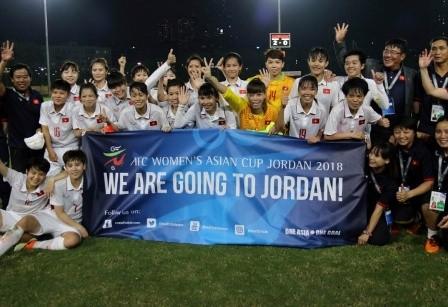 Federación de Fútbol de Asia alaba el equipo femenino de Vietnam  - ảnh 1