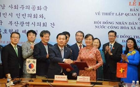 Ciudad Ho Chi Minh impulsa su cooperación con la Unión Europea y la ciudad surcoreana de Busan - ảnh 2
