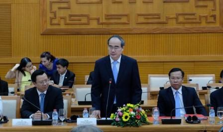 Ciudad Ho Chi Minh impulsa su cooperación con la Unión Europea y la ciudad surcoreana de Busan - ảnh 1