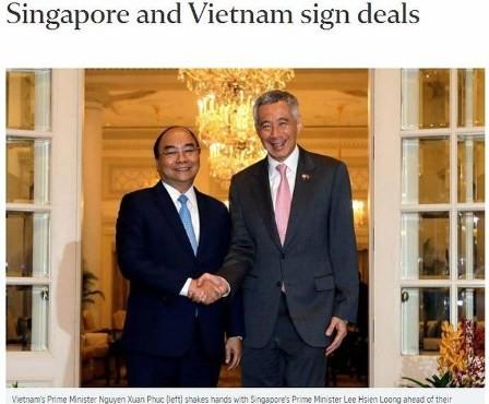 Prensa singapurense enfoca su atención a la visita del premier vietnamita  - ảnh 1