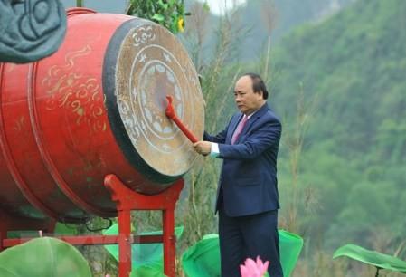 Primer ministro de Vietnam inaugura Festival Trang An 2018  - ảnh 1